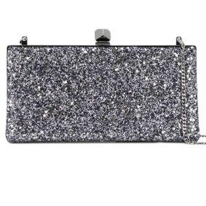 Jimmy choo Celeste star glitter clutch/strap